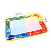 1 PCs Color Pen  +  45 * 29cm Drawing Water Mat Tablet Aqua Doodle with Multicolour Drawing Board
