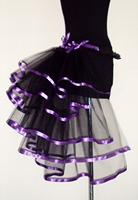 summer arrival 2014 New bodycon lace  tunic patchwork  club chiffon A sense of hierarchy  Princess Mononoke Mesh Stripe Skirt