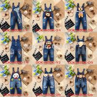 Multi Styles Cartoon Baby Kids Jeans Suspender Trousers Animal Coogan Bib Pants