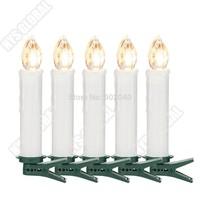 Kostenloser Versand (DHL) 60er Ser LED Kabellose Weihnachtskerzen Christbaumkerzen Weihnachten Christbaumschmuck Lichterkette FB