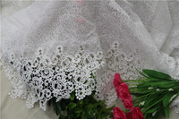 "Wholesales Milk Silk White Mesh Flower Embroidery Floral Lace Wedding Lace Fabric 51.2"" Width 1 yard"