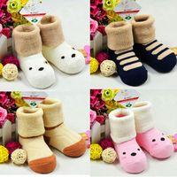 Wholesale children 0-3 years old cotton socks , wool coil baby socks, baby cotton socks