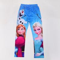 Hot Romance FROZEN Snow  Girls Leggings ELSA  ANNA models of child Pants Beautiful Children's Clothing