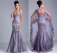 2014 New Sexy Beading Lace Appliques Mermaid Gown Sweetheart Off the Shoulder Floor Length Long Prom Dresses With Wrap