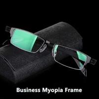2015 I-bright New Arrival Male/Men Myopia Glasses Frame Businessmen's Formal Half Frames Eyeglasses Prescription lenses