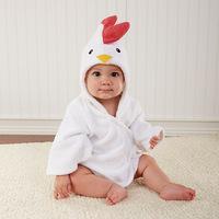 new design  pure cotton towel bath bathrobes towel wrap pajamas hug baby little Chicks style hoody bath towel  ELZ-O0043