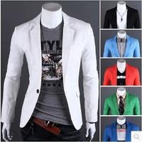 Blazer Masculino Fashion 2014 High Quality Mens Casual Single Button Blazer Terno Slim Fit Masculino Men Dress Suits Brand New