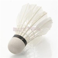 2014 Durable Outdoor Sports 12Pcs Training White Feather Badminton Shuttlecocks