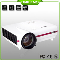 Brilens 960*576 led Projector LCD projector 2500 lumens 2014 new contrast 4000:1 home theater mini projector data show