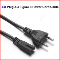 ( 30 pcs/lot ) EU Plug AC Figure 8 Power Cord Cable 1.5m 5FT For Battery Charger AC Power Adapter Laptop Wholesale