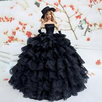 Black Dress For  Barbie Doll