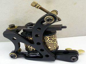 100% New Brand Art Tools Alloy Black Tattoo Gun Shader Liner Professional Tattoo Machine For Sale(China (Mainland))