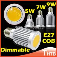 LED Bulb E27 5W 7W 9W Warm White Cold White Lamps Bulbs 110V-220V Dimmable COB LED Light Spotlight Spot Light Lamp