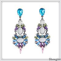 New Arrival Vintage Classic Crystal Dangle Earrings Fashion Long Rhinestone Costume Earrings Jewelry Wholesale