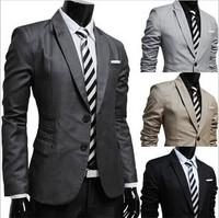 Blazer Veludo Masculino Men'S Jacket Blazer Casual Korean Fashion Clothing Men Single-Breasted Blazer Ternos Masculino 2014