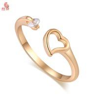 Fashion New Arrival 18K Gold Crystal Striking Heart Wedding Party Ring For Women KUNIU J1701