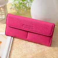 Special sales Genuine leather wallet women's wallet clutch long design clip wallet Long Wallets Purse Bag (NO BOX PACKING)
