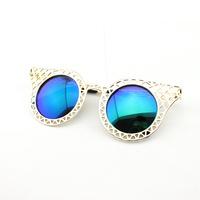 Baroque 2014 Sunglasses Women Brand Designer Geek Gold Sun Glass Ladies Luxury Retro Round Lenses Lunette De Soleil Femme