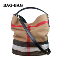 2014 NEW Brand Designer Genuine Leather Women shoulder bags Large Canvas set bag Women handbag tote Girl Ladies Fashion A008