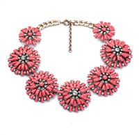 fashion necklaces for women 2014 hot selling Set auger big flower pendant necklace Upscale atmosphere Restoring ancient ways