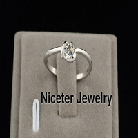 NICETER Fashion Brand 2014 New High Quality Bezel Setting Rhinestone Rings For Women BBR_00291 Promise/Wedding Jewelry