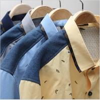 Brand New Mens Shirts Casual Striped Men's Luxury Dress Shirts 2014 Mens Slim Fit Unique Neckline Stylish Long Sleeve Shirts