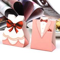 cartoon wedding favors groom and bride candy box wedding gift