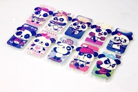 Hot! High -quality TPU stereoscopic panda soft phone case for apple iphone4 4S back cover for apple iphone 4 4s free shipping