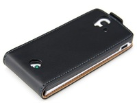 Cowskin Flip Leather Pouch Case Cover For SONY ERICSSON XPERIA RAY ST18i