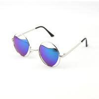 2014 Fashion Sun Glasses For Women Men Designer Hipster Geek Sunglasses Round Metal Frame Heart Shaped Lenses Lunette Oculos