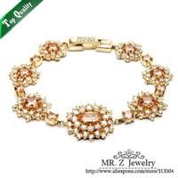 Top Grade Christmas Gift Vintage AAA Zircon Simulated Diamond Bracelet Women Bracelets Free Shipping