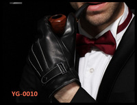 Genuine leather winter thicken gloves touch screen gloves for men