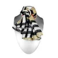 Free Shipping Fashion Faux Silk Scarf, Brown Fashion Scarf, Silk Touch, Warm Scarf, 3 Pcs/Lot