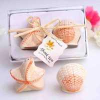 Free Shipping Wedding Decoration Favor Gift Cute marine shells and starfish Salt Pepper Shaker Wedding Favor
