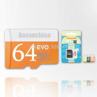 RU Best selling 64GB Micro sd card SDHC SDHD memory card 64gb class 10 micro sd Flash card Freeshipping