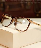 Free shipping Vintage women glasses 2014 new brand wholesale fashion eyeglasses frame alloy leg eye glasses frame men's optical