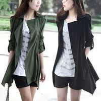 2014 new autumn fashion desigual trench coat for women Three Quarter over coat Free Shipping NV174