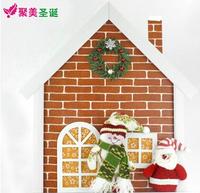 Free shipping Snowman door hanging wood + fabric door hanging Christmas decorations