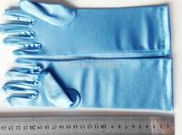 Full finger gloves frozen elsa gloves costume Long Blue gloves snow Queen Elsa  Party Costumes children's gloves warmers 50pcs