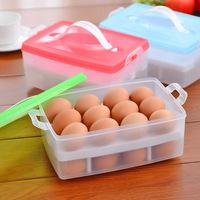 New 2014 portable double plastic egg storage box crisper   B273   0.27kg