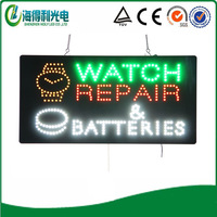 "HOT! Four colors  LED watch repair letter store sign/15""*27"" high brightness oval LED OPEN sign"
