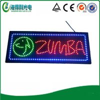 "HOT! 3D high brightness lamp lith LED store sign/15""*27"" high brightness oval LED OPEN sign"