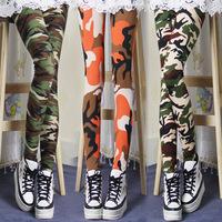 big size Drop 2014 new Spring camouflage combed cotton leggings printing camouflage graffiti leggings  leggings Fashion Girls