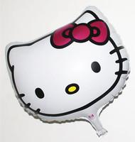 50pcs/lot 18inch NEW Hello Kitty Head Foil Balloons Wedding Decoration And Party Balloon Cartoon Cat Balloon+Pump