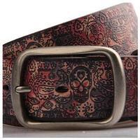 Brand 2014 New Men Belts Popular Print Skull Belts Leather Men's Belt Hip Hop