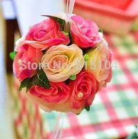 Simulation roses artificial flowers artificial flowers silk flower ball wedding bride bridesmaids holding flowers