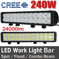 "NEW 20"" 240W CREE 24LED Driving Work Light Bar OffRoad SUV ATV 4WD 4x4 Spot / Flood /Combo Beam 24000lm 9-70V Ultra White Bright"