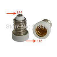 5-Pack White E14 to E12 LED Halogen Light Bulb Lamp Adapter Lamp Holder Converter
