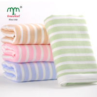 New 2014  MAOMAOYU Brand Towels 1PC 34*75cm(13''*30'') 100% Cotton Towels Hand Towel Novelty Household  Stripe Face Cloth 010023