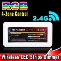 Mi light 4-zone RF 2.4Ghz 30M Distance Wifi Wireless Touch Screen Control Box LED RGB Strip Lamp Bulb Remote Controller
